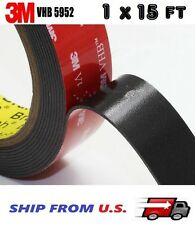 """3M 1"""" x 15 ft  VHB Double Sided Foam Adhesive Tape 5952 Automotive Mounting 24mm"""