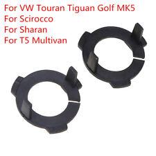 2xH7 Xenon HID Conversion Bulb Holder Adaptors Base For VW GOLF JETTA MK5 TOURAN