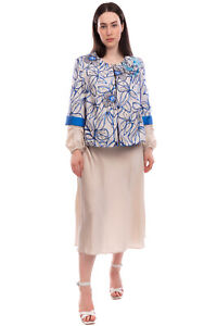 RRP €260 ALLURE Brocade Blazer Jacket Plus Size 47 / XL Floral Made in Italy