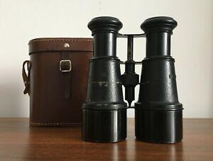 Vintage Binoculars, Metal, Unbranded in a Case