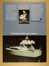 1971 Trojan 31 Motor Yacht color photo vintage print Ad