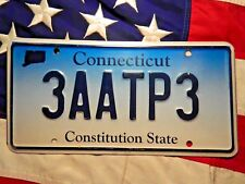 CONNECTICUT license licence plate plates USA NUMBER AMERICAN REGISTRATION