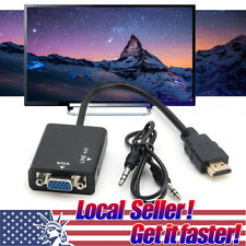US SELLER HDMI Male to VGA Female Audio Cable Converter Adapter for PC HDTV TV