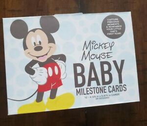 Disney Baby Mickey Mouse Baby Milestone Cards-12 Cards-24 Designs-New