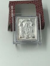 Sterling Silver Balagi or Venkateswara Desk Plaque. Size 21/2 X 21/2