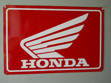 Honda Red Motorcycle Sign w/outline Parts  Accessories Decals Emblems Large
