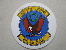 AUTOCOLLANT STICKER AUFKLEBER US AIR FORCE USAF 834th SUPPLY SQUADRON