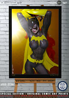 Sexy Batgirl Red Sky at Gotham Nights Original Comic Art Edition Print Batman
