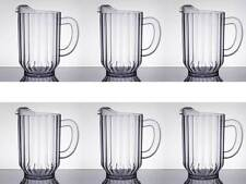 (6-Pack) Choice 60 oz. Clear Plastic Round NSF Restaurant Beverage Pitchers