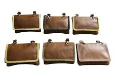Real sheepskin leather Ladies shoulder pouch Bag with adjustable leather strap