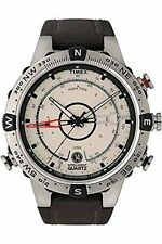 Mens Timex Indiglo Tide Temp Compass Watch T2n721