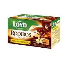 LOYD Rooibos Sense Honey & Madagascar Vanilla Flavored Herbal Tea 20 Envelopes