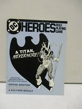 1985 DC Heroes Role Playing Game Titans Challenge