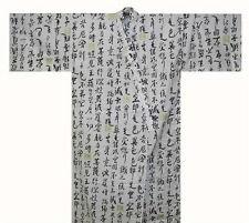 """Japanese Mens Yukata Kimono Made in Japan 62"""" #LL EK232"""