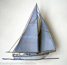 WALL ART - SAILBOAT METAL WALL SCULPTURE - NAUTICAL DECOR