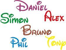 Personalised Name Wall STICKERS GIRLS BOYS Disney Font Stker Style Art BEDROOM