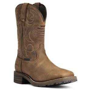 Ariat Men's Hybrid Patriot H20 Distressed Brown Boots 10038354