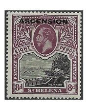ASCENSION stamps 1922 GEORGE V 8 pence black and dull purple SG.6 MM -F585