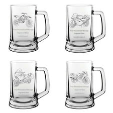 More details for personalised motorcycle glass tankard engraved motorbike scooter biker gift