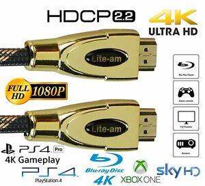 HDMI Cable v2.0 HD High Speed 4K 2160p 3D Lead 1m/2m/3m/4m/5m/7m/8m/9m/10m/15m