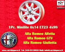 1 Cerchio Alfa Romeo Minilite 6x14 ET23 4x98 1 pc Wheel 1 Stk Felge Llanta Jante