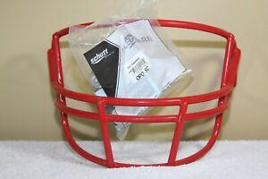 Vtg Schutt Football Helmet Facemask Patriots Badgers Scarlett Red OPO New