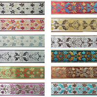 10M Floral Plant Pattern Embroidery Jacquard Ribbon Trim Lace Fringe DIY Crafts