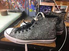 Converse CTAS 70 HI Black/White Textured Leather Asphalt Size US 11 Men 156702C
