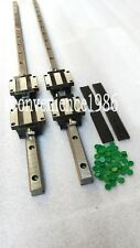 2 x HSR20CA-2R-400//600mm mm Square Liner Rail /& 8 HSR20CA Blcok Bearing