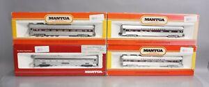 Mantua HO Pennsylvania Aluminum Passenger Cars (4) EX/Box