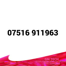 07516 91 1963 EASY MOBILE NUMBER PAY AS YOU GO SIM CARD UK GOLD PLATINUM VIP