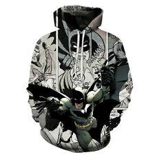 Women Men 3D Print  Movie Superhero Batman Iron Hulk Hoodies Sweatshirts