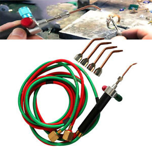 Jewelers Soldering Cutting Torch Gas + 5 Tips Mini Welding Torch Jewelry Tools