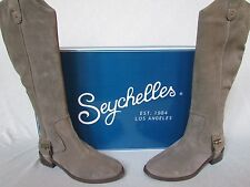 NEW NWB SEYCHELLES GRAY TAUPE SUEDE LEATHER TALL BOOT SZ 7 M