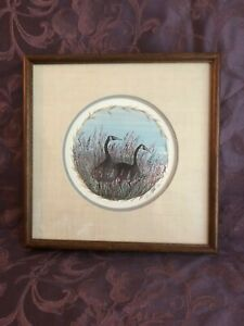 """P. Buckley Moss 1988 """"Winter's Friend"""" Signed Print #139 Framed Double Matted"""