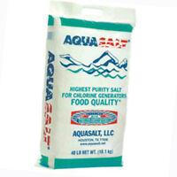 AquaSalt Highest Purity Salt For Swimming Pool Salt Chlorine Generators-40 lbs