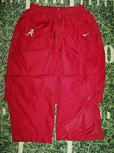 Nike Alabama Crimson Tide Football Unlined Track Wind Warm Up Training Pants