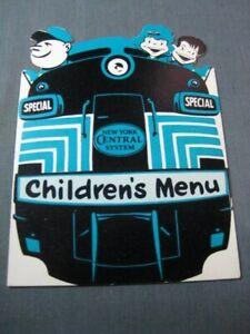 New York Central NYC Railroad Childrens Menu 1950
