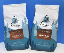 2 Bags -Caribou Coffee-Caribou Blend-Medium Roast-Ground-20 Ounce Bags-BB 06/20