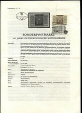 Austria 1966 Posts & Telegraph First Day Issue Special Cancel Info Sheets #V6298
