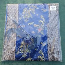 """Chinese silk tapestry Table runner 76""""L X 13W(and 7.5""""tassels)"""