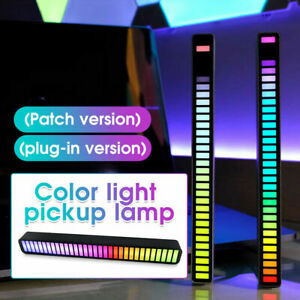 RGB Voice-Activated Pickup Rhythm Light 32Bit Car Music Level LED Light Bar Lamp