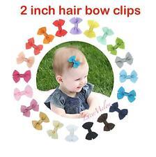2 X 2 INCH HAIR BOWS hair clips alligator clip girls kids bulk baby shower gift