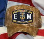 NAVY RATING EM MASTER CHIEF NAVY HAT PATCH