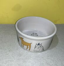 New listing Dog Party Food Bowl by Ursula Dodge Design Target Fun Puppy 6� Used Clean Funny