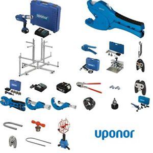 Uponor Werkzeug Pressmaschine Biegefeder Rohrschneider Pressbacken Unipipe