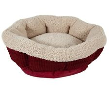 Aspen Pet Self Warming Pet Cat Bed , Warm Spice Cream Red ,19-in