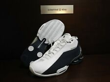 DS NEW NIKE Shox BB4 Size 9 Vince Carter VC White Navy Silver