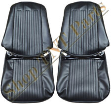 1968 GTO Lemans Seat Covers Front Bucket Upholstery Skins Black Replacements