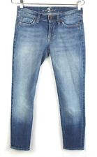 seven for all mankind 7 womens size 25 x 24 joyce denim jeans made in usa